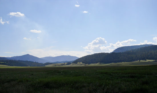 Image of the West side of the Valles Caldera in New Mexico